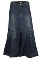 Shop womens full length denim skirt ladies maxi long skirt from the house of clove UK.
