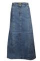 Womens Ladies Denim Long Skirt