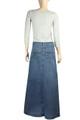 Shop for Blue denim skirts
