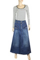 long denim skirt womens full length