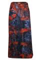 Tye Dye Red Black Blue Plus Size Denim Skirt Front