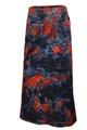 Red Black Blue Tye Dye Plus Size Denim Skirt
