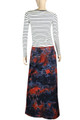 Clove  Denim Long Pensil Skirt Plus size Red Black Blue Tie Dye