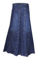 plus size denim skirts knee length