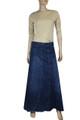 cheap long plus size jean skirts