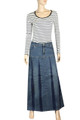 Women's Fashion Button-front Denim Jean Full Skirts