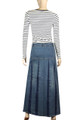 Maxi denim skirts for every shape & style
