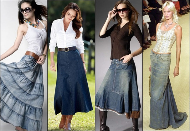 Top 3 Style Tips for Classy Long Denim Maxi Skirt