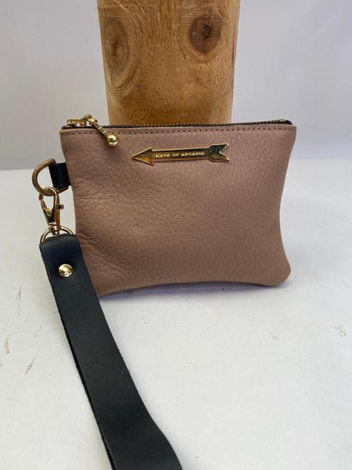 Sample 22 - Arrow Purse Wristlet Blush ( Gold hardware )