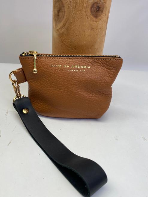 SOLD / Sample 23 - Pod Purse with Wristlet Tan