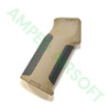 Amoeba - Pro Beavertail Straight Backstrap M4 Grip (Black/Dark Earth) Right Side