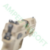 Action Sport Games - CZ 75 P-09 Polymer Gas Blowback Airsoft Pistol (FDE) Front Sight