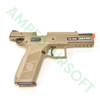 Action Sport Games - CZ 75 P-09 Polymer Gas Blowback Airsoft Pistol (FDE) with Slide Locked Back