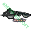 Amped Bundle - Face Protection Bundle with Black Mesh Lower Mask, Pyramex V2G Goggle, and Fogtech Anti Fog Wipes