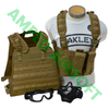 Amped Bundle - Starter Gear Bundle in Coyote Brown (Condor Compact Plate Carrier/CPC, Condor OPS Chest Rig, 2x Closed Top M4 Magazine Pouches, Lancer Tactical Lower Mesh Face Mask, and Pyramex V2G Full Thermal Goggles)