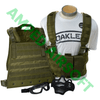 Amped Bundle - Starter Gear Bundle in Olive Drab (Condor Compact Plate Carrier/CPC, Condor OPS Chest Rig, 2x Closed Top M4 Magazine Pouches, Lancer Tactical Lower Mesh Face Mask, and Pyramex V2G Full Thermal Goggles)