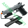 Amped Bundle - Elite Force 1911 Tactical (Gun Metal Gray) Light Bundle with UTG Weapon Light, and extra Standard and Extended Magazines for a total of 3 Mags!