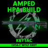 Amped Custom HPA Rifle - Krytac War Sport LVOA-C (Wolf Grey)  cover