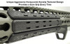 "Leapers - UTG Low Profile Keymod Rail Panel Covers (5.5"" Black / 7 Pack) on Rail Closeup"