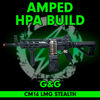Amped Custom HPA G&G Combat Machine CM16 LMG   Stealth