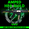 Amped Custom HPA G&G ARP 9mm CQB Airsoft Rifle   Stealth Gold