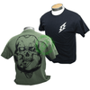 Amped Airsoft T-Shirt Skull Bolt   Black & Olive Drab