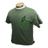 Amped Airsoft T-Shirt Skull Bolt   Olive Drab