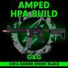 Amped Custom HPA Rifle - G&G Combat Machine CM16 Raider Short (Black) cover