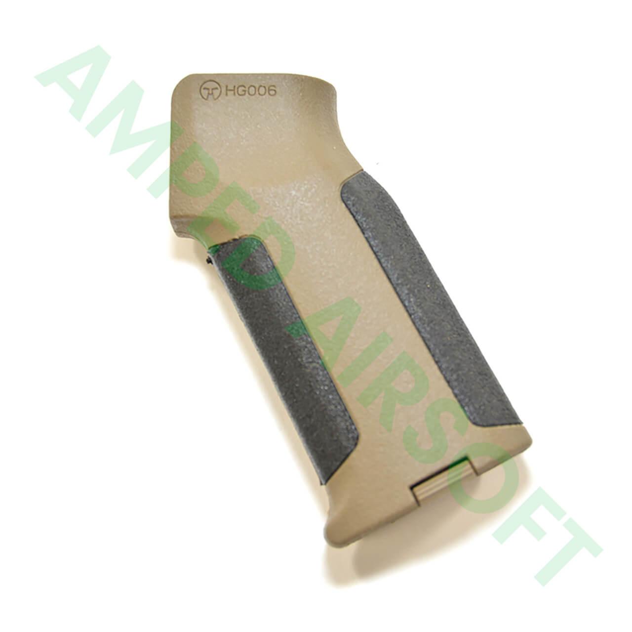 Amoeba - Pro Beavertail Straight Backstrap M4 Grip (Black/Dark Earth) Left Side