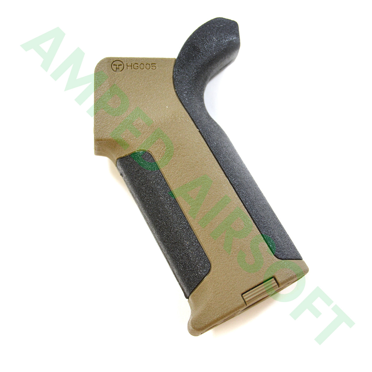 Amoeba - Pro Beavertail Backstrap M4 Grip (Black/Dark Earth) Left Side