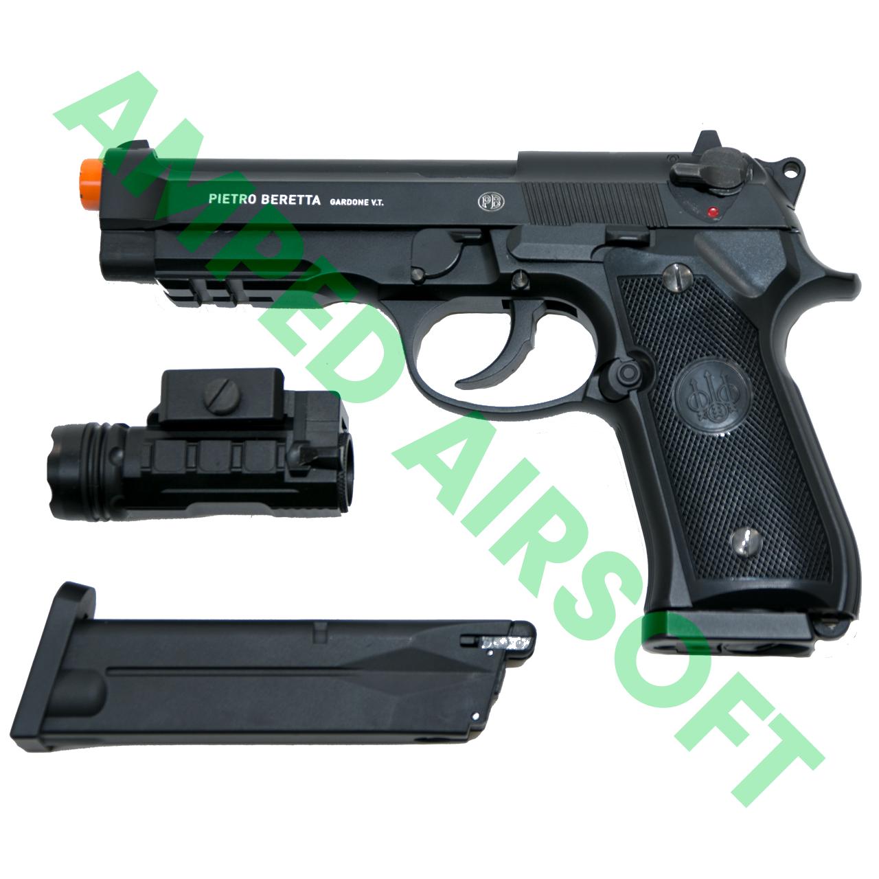 Amped Bundle - Elite Force Beretta M92 A1 CO2 Blowback Pistol Light & Magazine Bundle