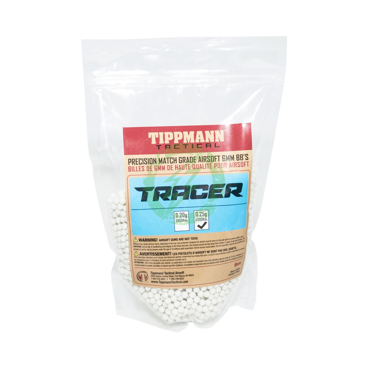 .25g 4000 Tippmann Tracer Precision Match Grade 6mm Airsoft BB/'s Light Green