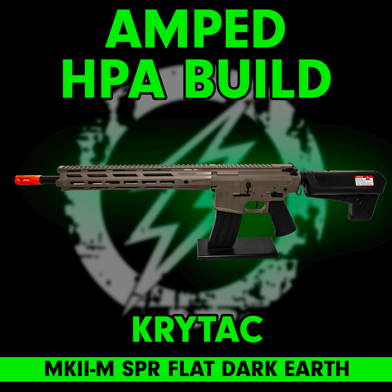 Amped Custom HPA Rifle Krytac MKII-M SPR | Flat Dark Earth