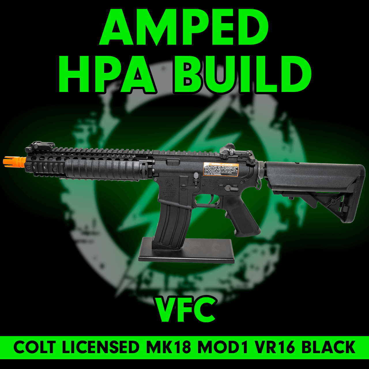 119d77b67 Amped Custom HPA Rifle VFC COLT MK18 | Black