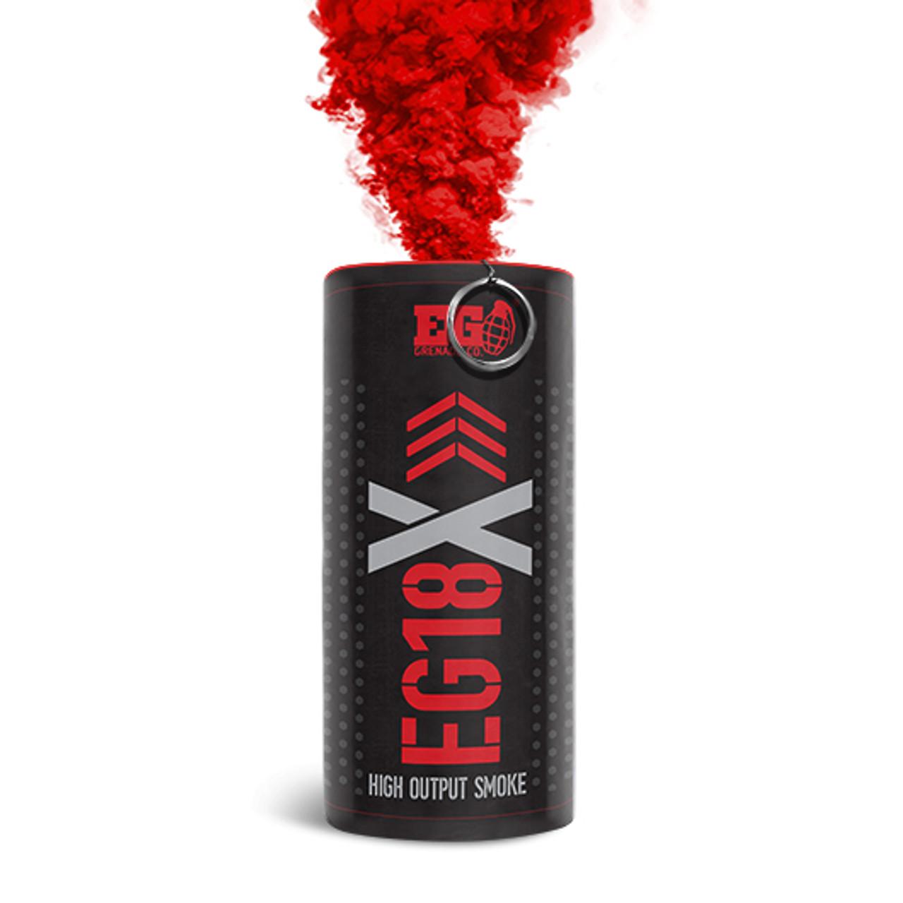 Pyro Shipped Easy Enola Gaye EG18X Military Smoke Grenade red