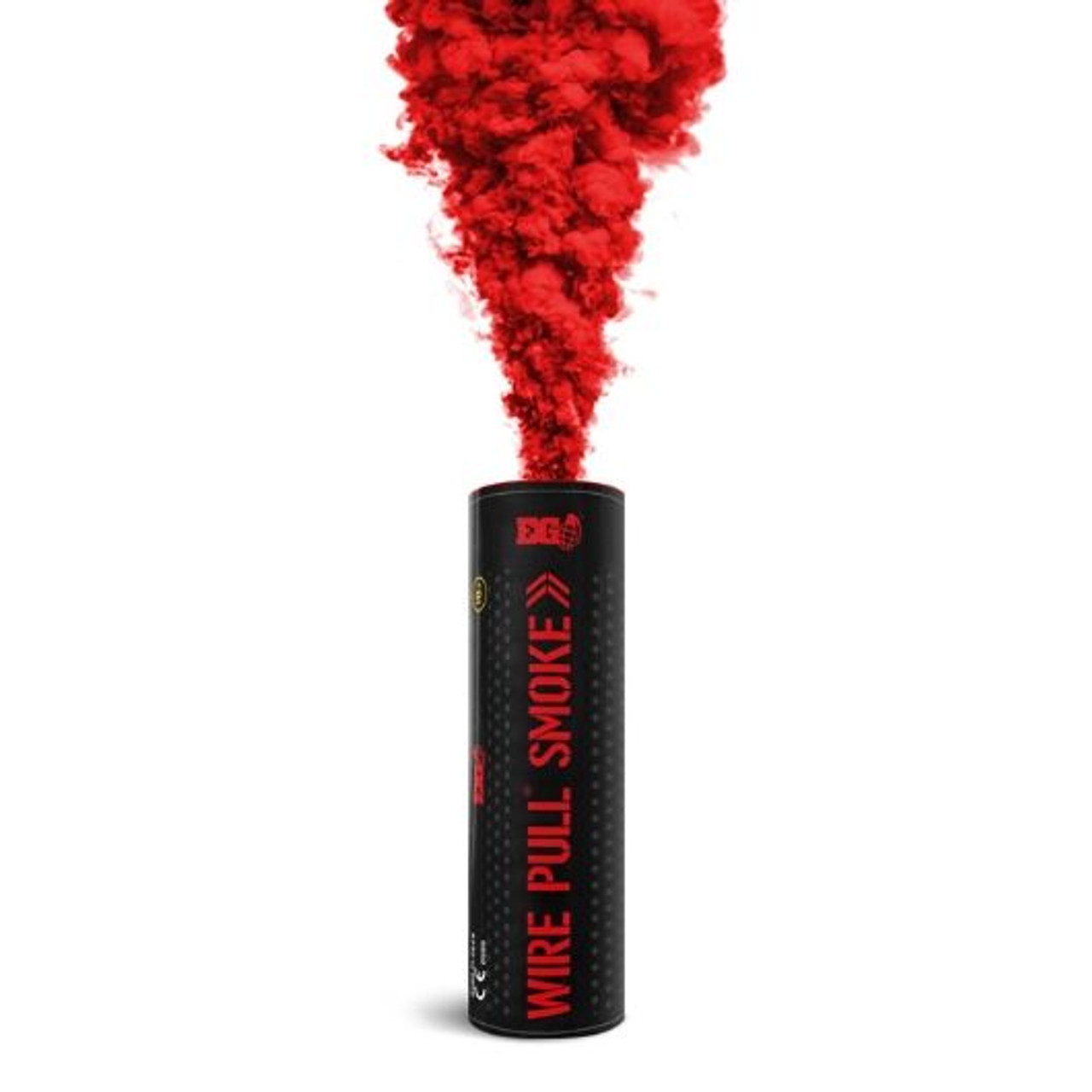 Pyro Shipped Easy Wire Pull Smoke Grenade red
