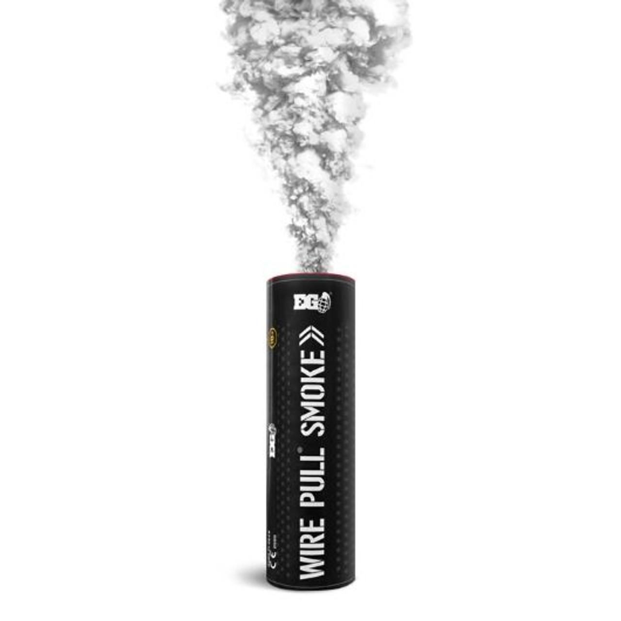 Pyro Shipped Easy Wire Pull Smoke Grenade white