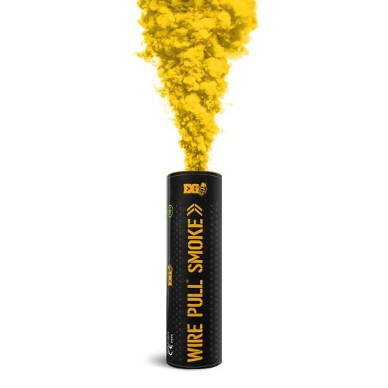 Pyro Shipped Easy Wire Pull Smoke Grenade yellow