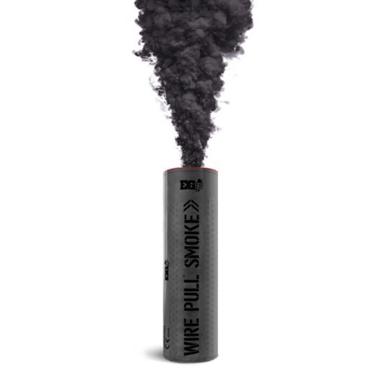 Pyro Shipped Easy Wire Pull Smoke Grenade black