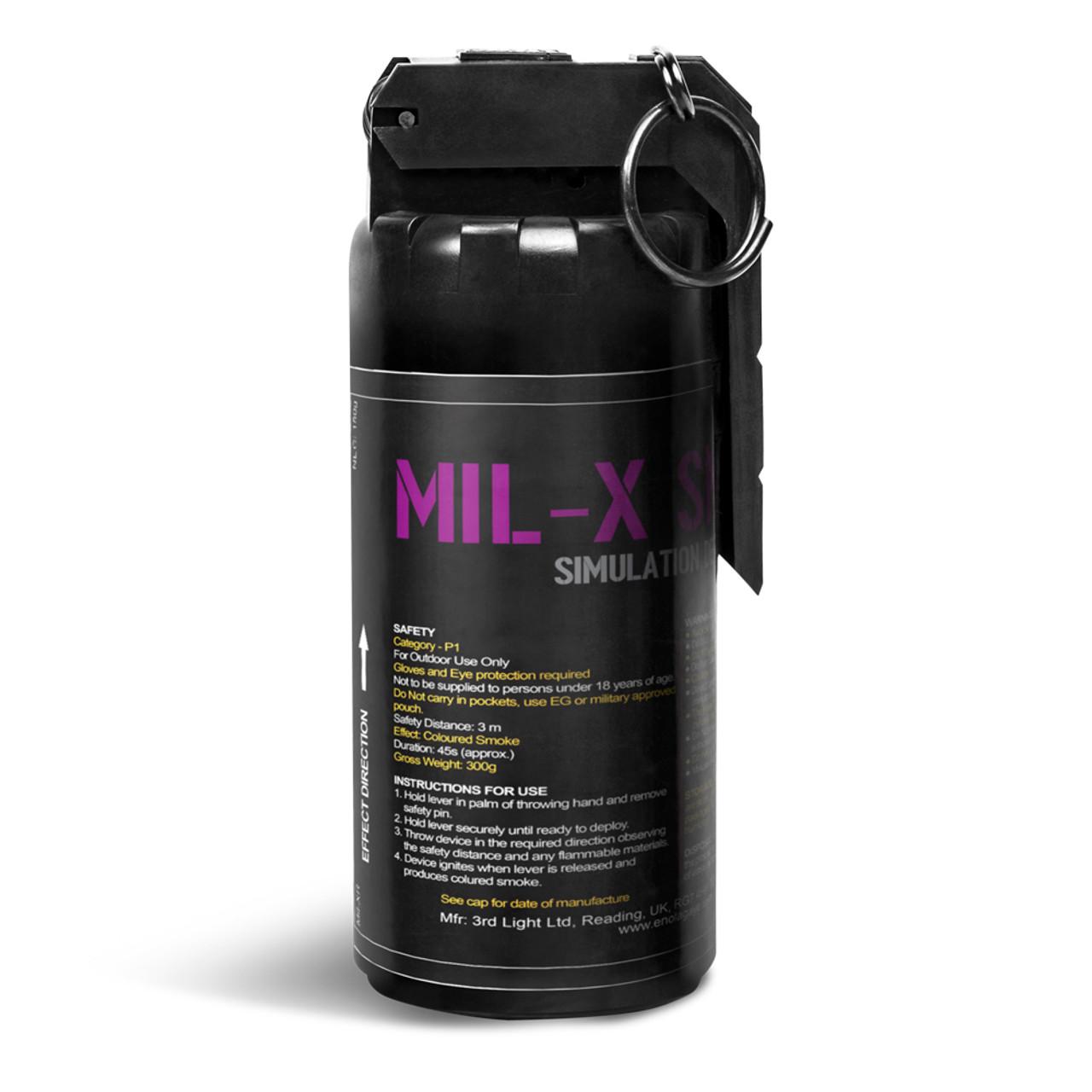 Pyro Shipped Enola Gaye MILX Smoke Grenade Purple