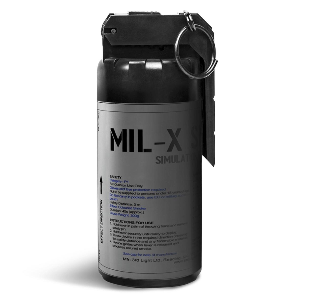 Pyro Shipped Enola Gaye MILX Smoke Grenade Black