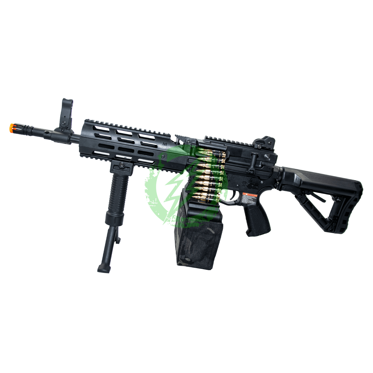 G&G Combat Machine CM16 LMG Stealth left