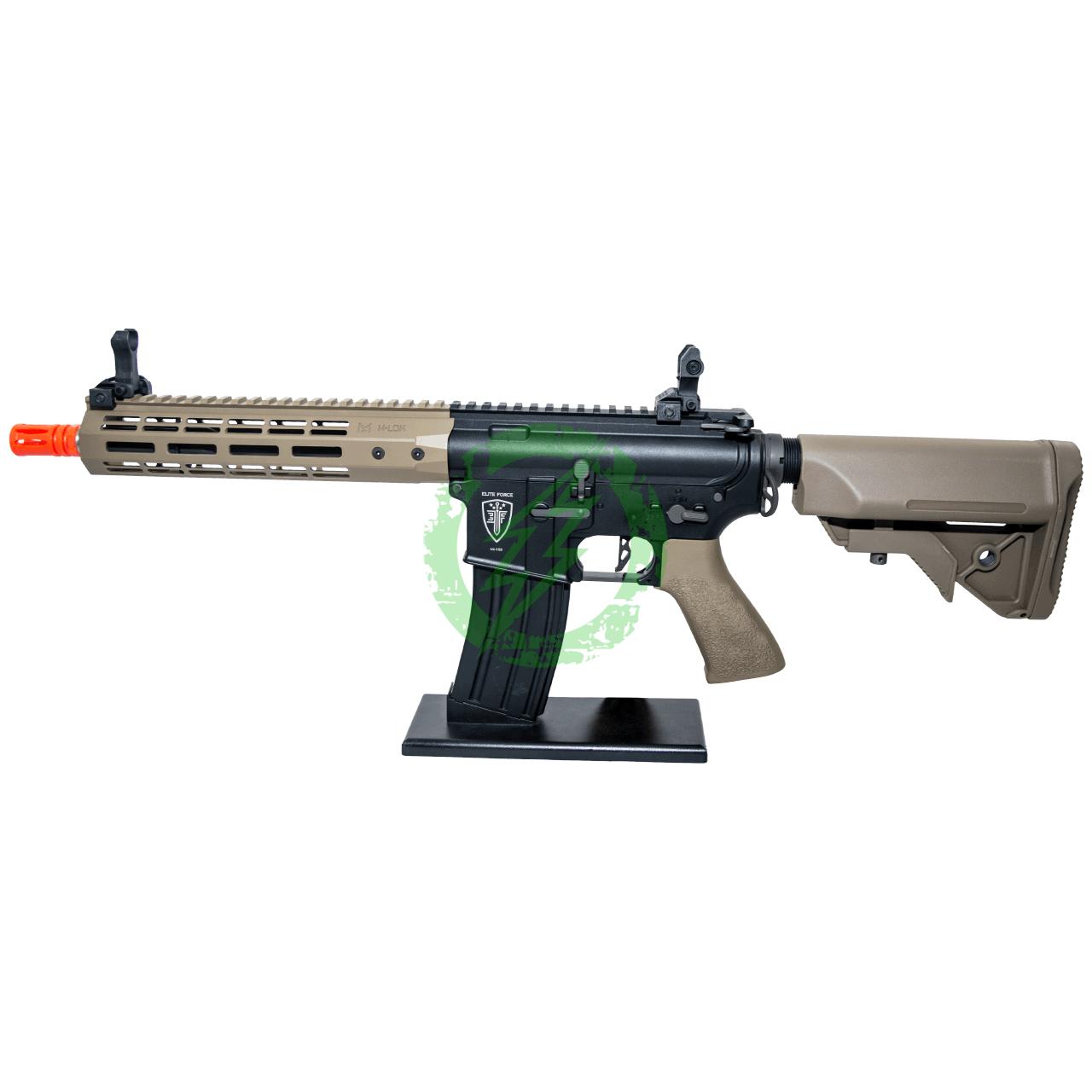 Umarex Elite Force Black & Tan CQB Competition M4 Airsoft AEG Rifle M-LOK Rail left