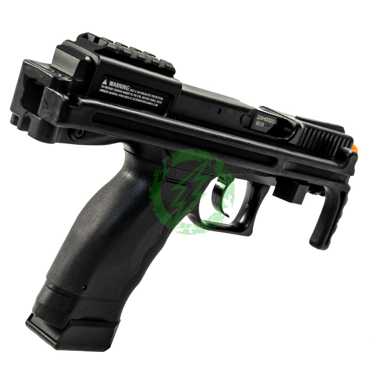 Action Sport Games B&T Universal Service Weapon GBB Pistol   Black grip