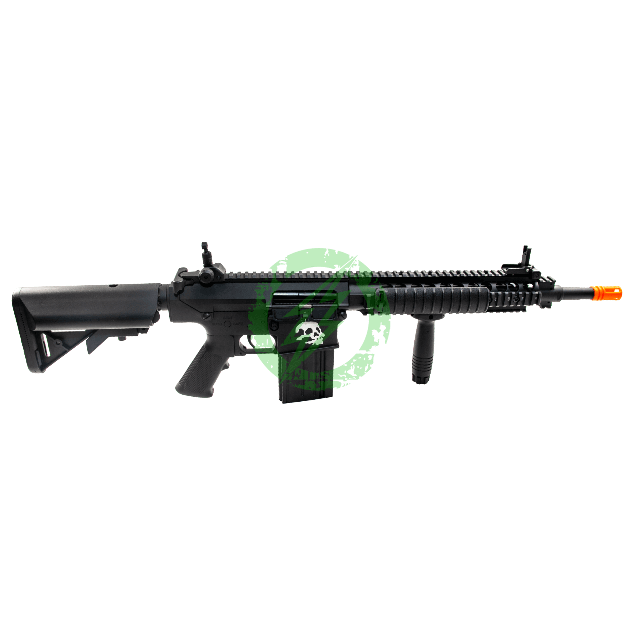 A&K Full Metal SR-25 Airsoft AEG Rifle | Zombie Killer Edition right