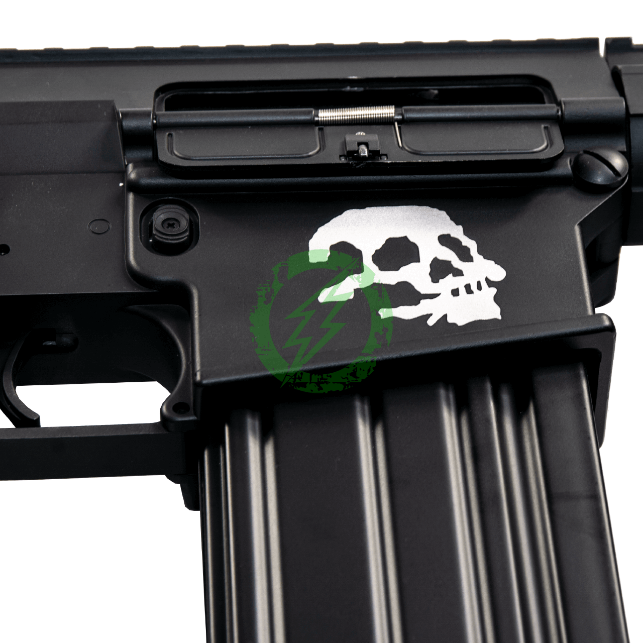 A&K Full Metal SR-25 Airsoft AEG Rifle | Zombie Killer Edition skull