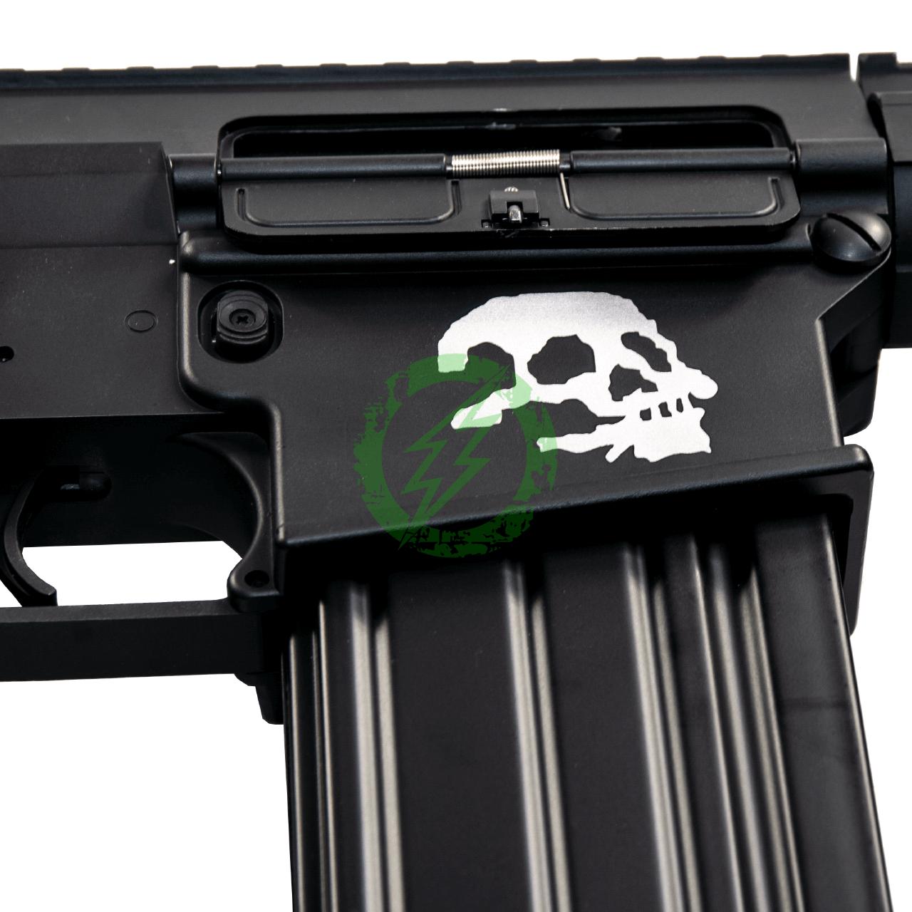 A&K Full Metal SR-25 Airsoft AEG Rifle | Zombie Killer Edition skull