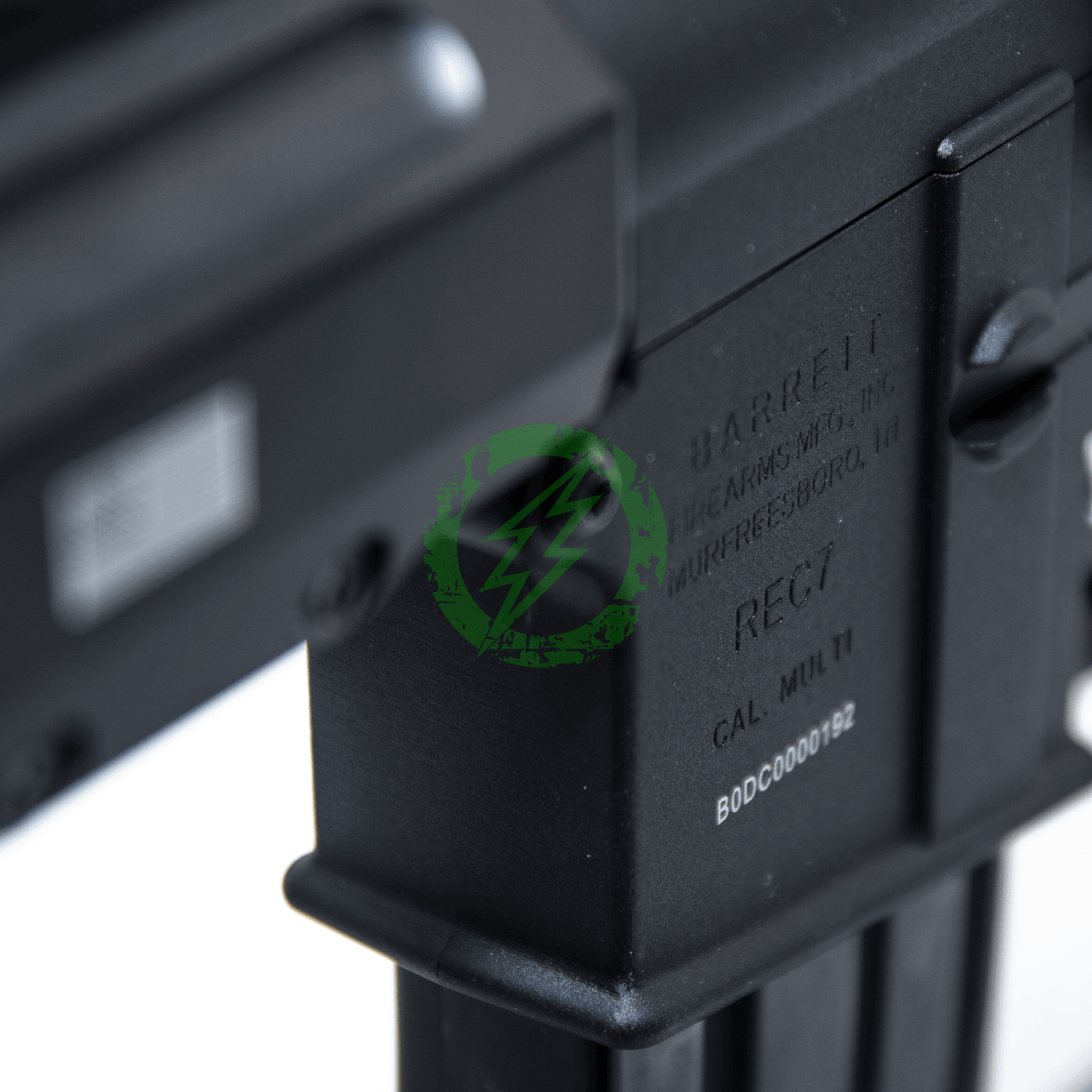 EMG Krytac Barrett Firearms REC7 DI AR15 AEG Training Rifle trademarks