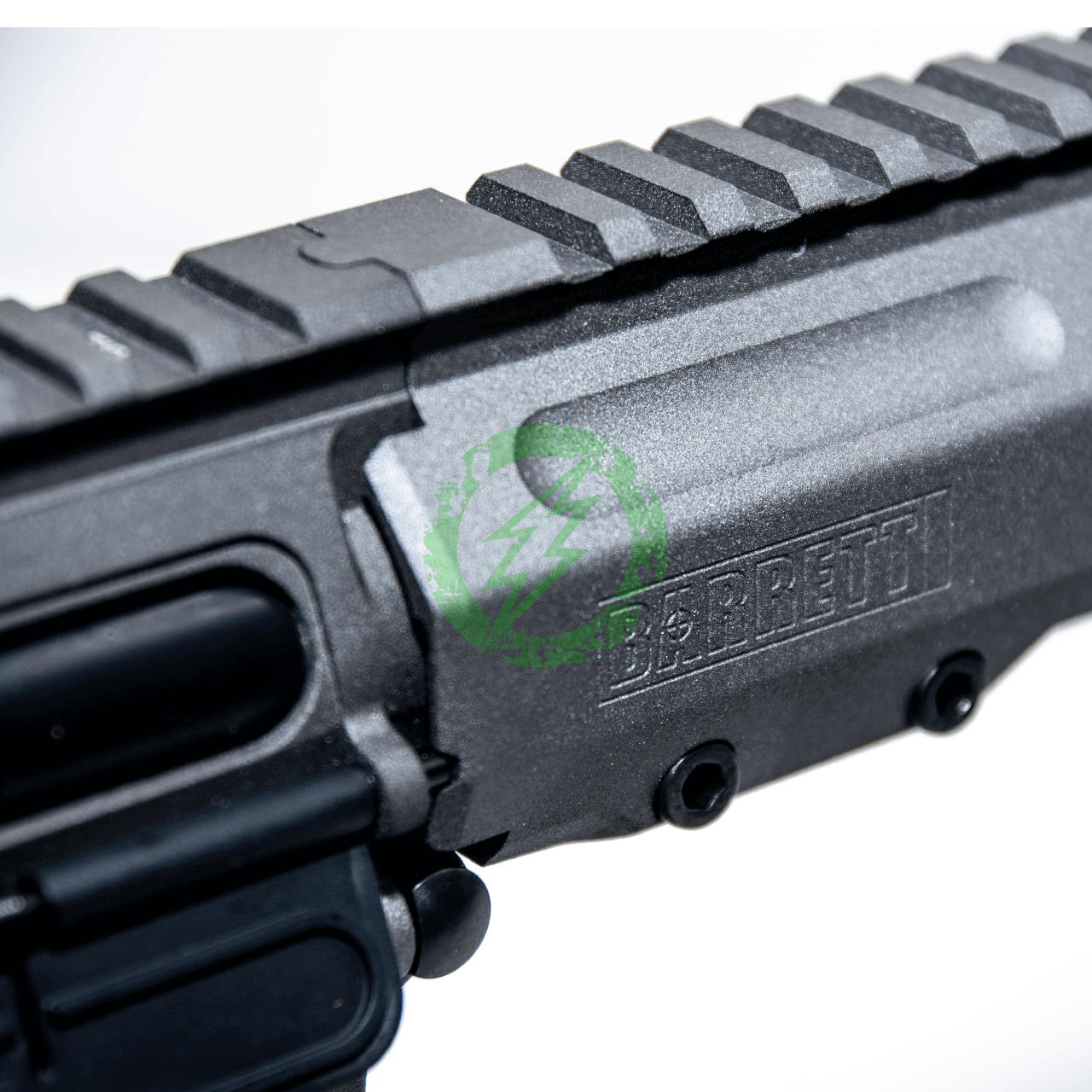 EMG Krytac Barrett Firearms REC7 DI AR15 AEG Training Rifle logo