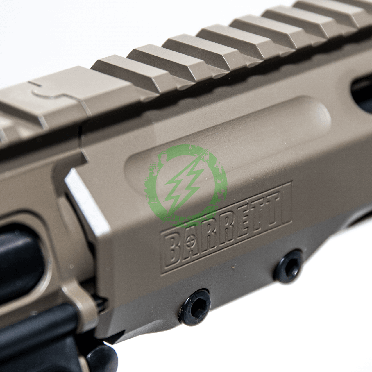 EMG Krytac Barrett Firearms REC7 DI AR15 AEG Training Rifle fde logo